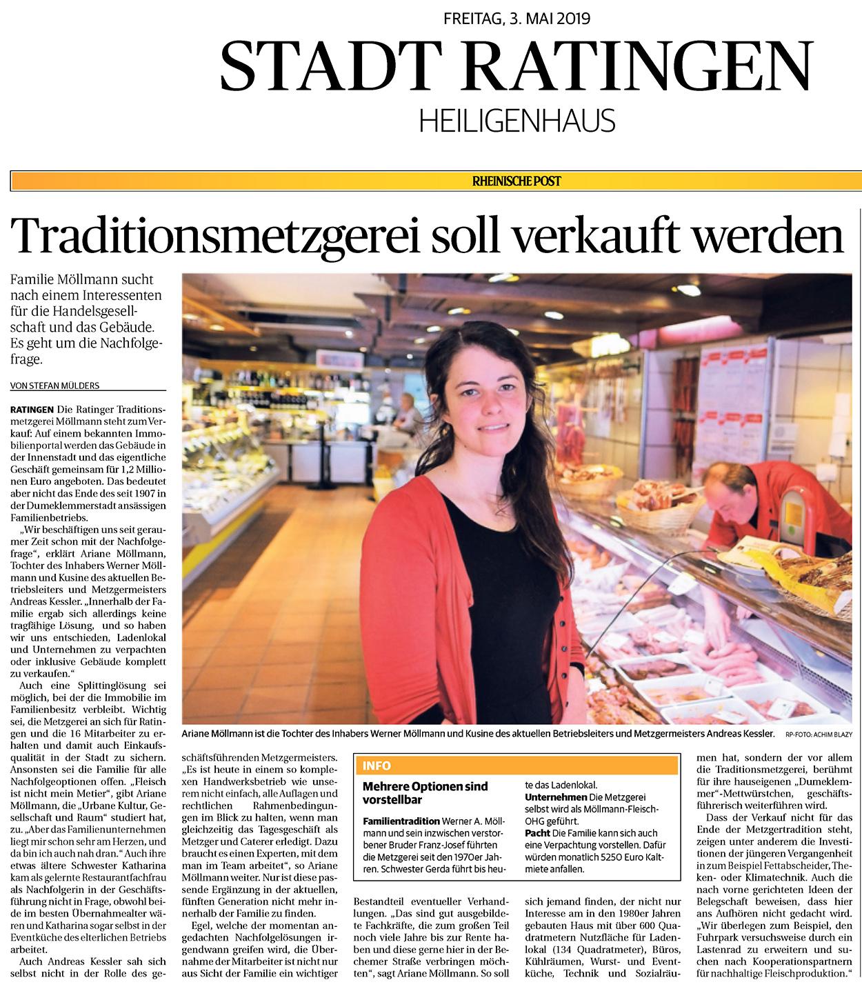 Traditionsmetzgerei wird verkauft - Stefan Mülders - Freier Journalist